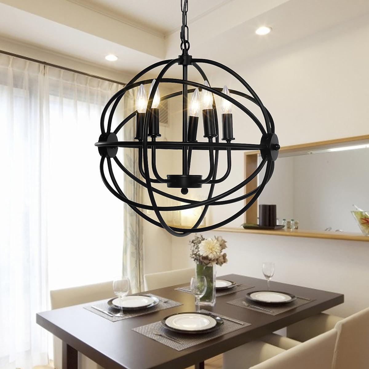 metal rustic pendant lights ceiling chandelier light 5