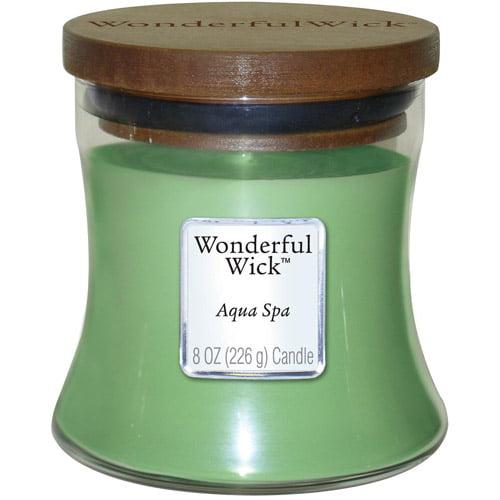 Wonderful Wick 8 oz Jar Candle, Aqua Spa
