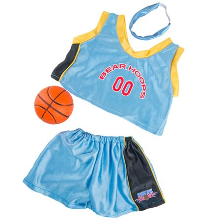 Bear Hoops Basketball Outfit w/ Ball Teddy Bear Clothes Fit 14