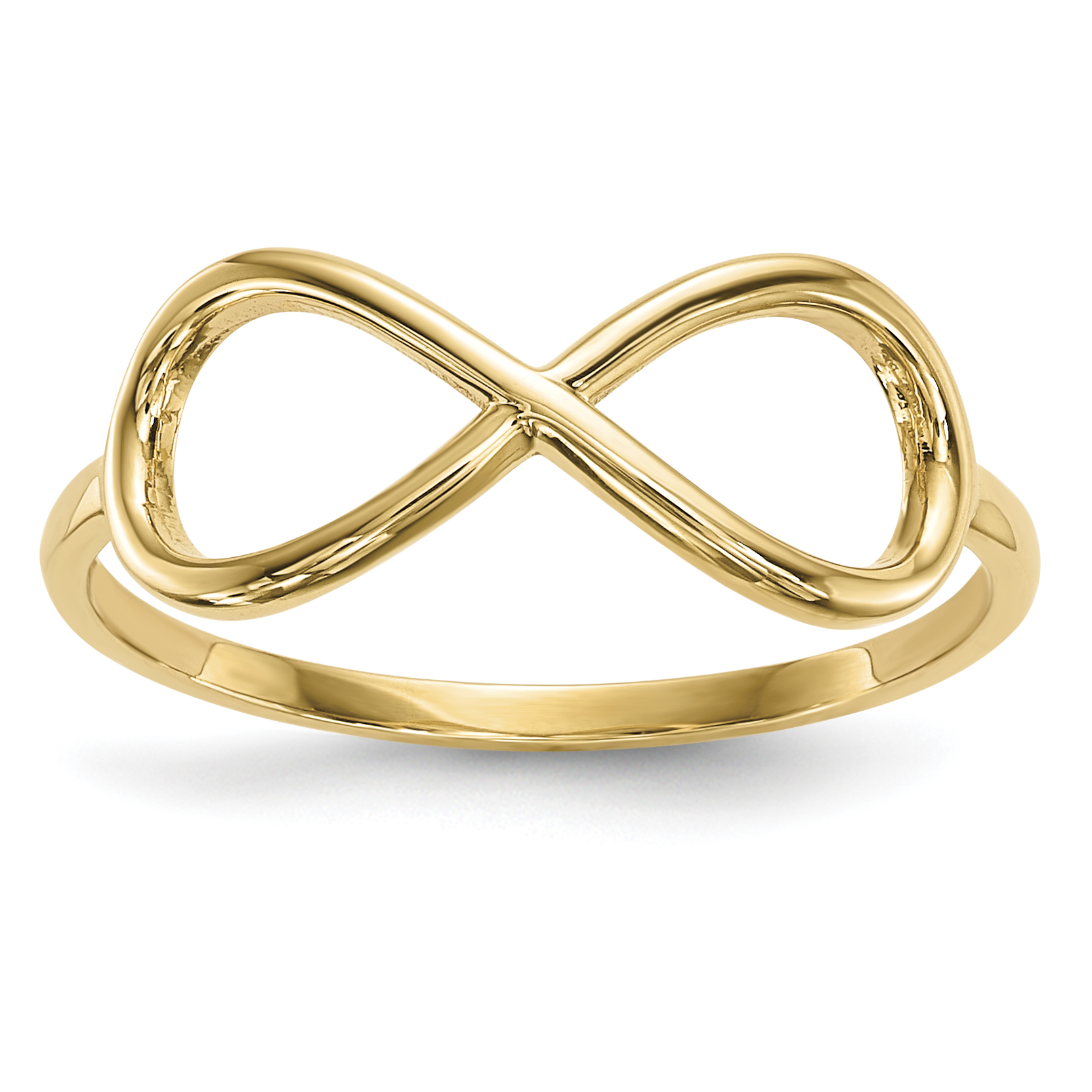 14kt Yellow Gold Infinity Band Ring Size 7.00 Fine Jewelry For Women Gift Set by IceCarats Designer Jewelry Gift USA