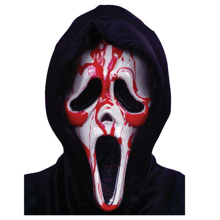 Scream Mask with Blood and Pump Adult Halloween Accessory