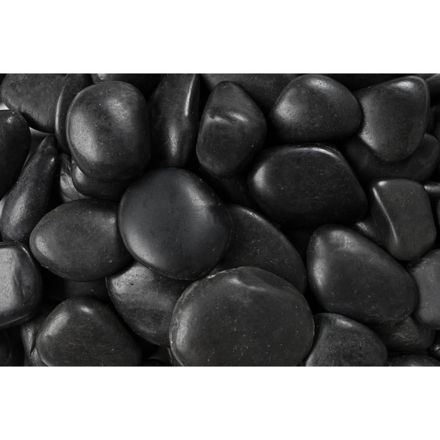 "Margo 20 lb Black Grade A Polished Pebbles, 1"" to 2"