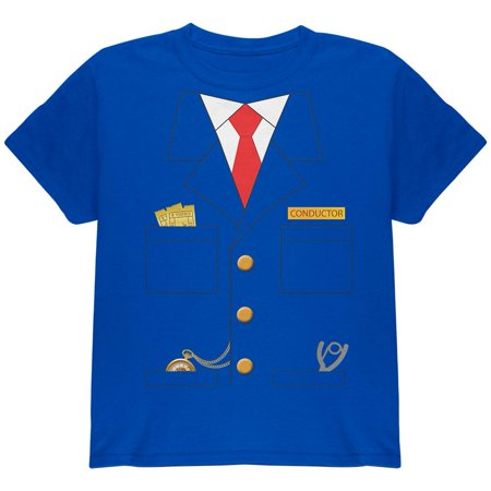 Halloween Train Conductor Costume Royal Youth T-Shirt (T Pain Halloween)