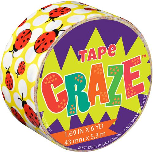 """Tape Craze, 1.69"""" x 11.9 yds, Lady Bug"""
