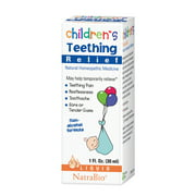 NatraBio Childrens Teething Relief   May Help Temporarily Relieve Teething Pain, Restlessness & Tender Gums   No Alcohol   1oz