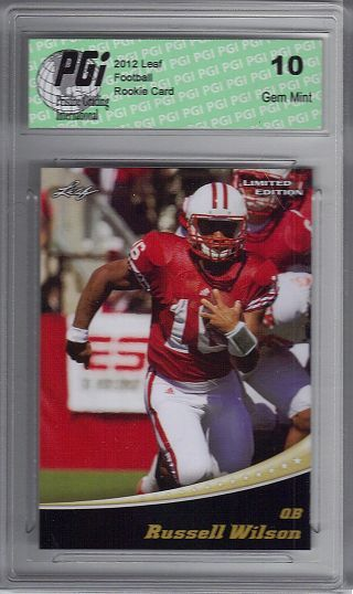 Russell Wilson 2012 Leaf Limited Edition Seahawks Rookie Card PGI 10 by