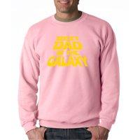 Trendy USA 715 - Crewneck Best Dad in The Galaxy Star Wars Opening Crawl Sweatshirt 2XL Light Pink