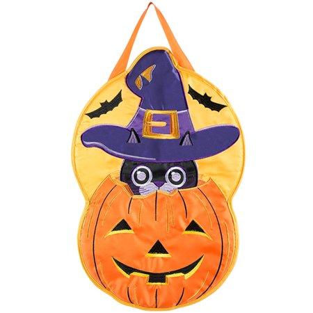 Witchy Cat Halloween Door Hanger 13.25