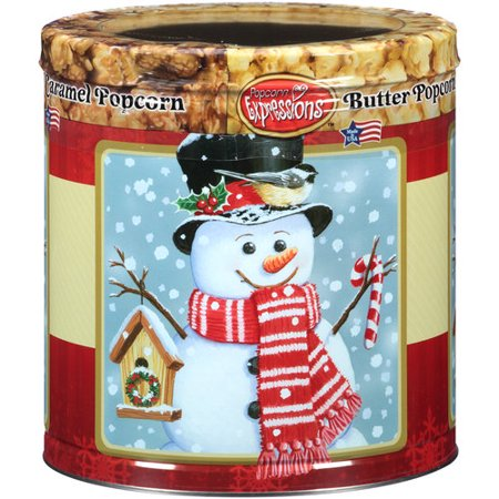 Popcorn Expressions Christmas Snowman with Tophat Assorted ...