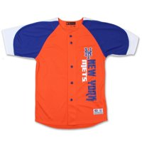 New York Mets Stitches Youth Vertical Jersey - Orange/Royal