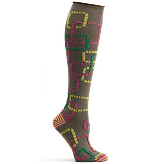 Retro Gaming Knee High Sock - Brown, One Size - image 1 de 1