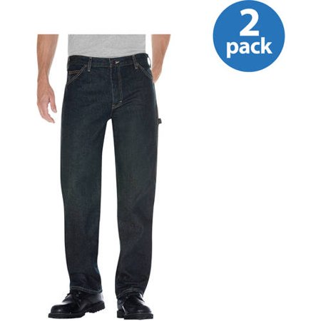 Dickies Big Mens Relaxed Fit Straight Leg Denim Utility Jean, 2 Pack (Dickies Relaxed Fit Denim)