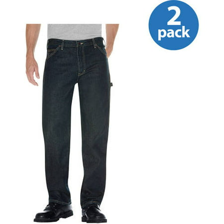 - Dickies Big Mens Relaxed Fit Straight Leg Denim Utility Jean, 2 Pack