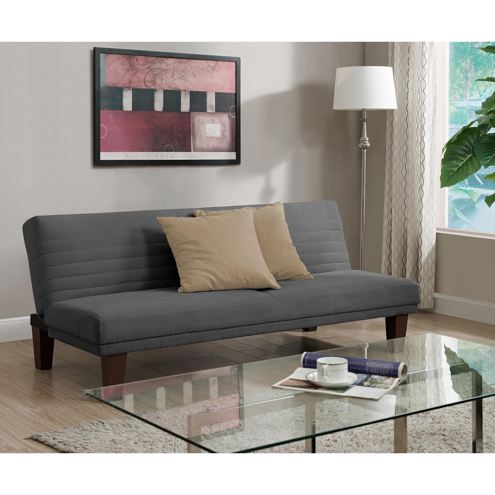 DHP Dillan Convertible Futon Couch, Multiple Colors