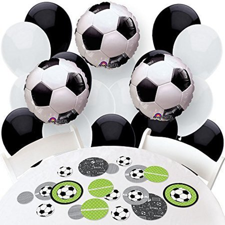 Soccer Themed Party (goaaal! - soccer - confetti and balloon party decorations - combo)