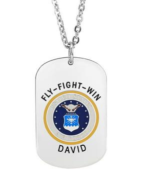 Military Air Force Insignia Dog Tag