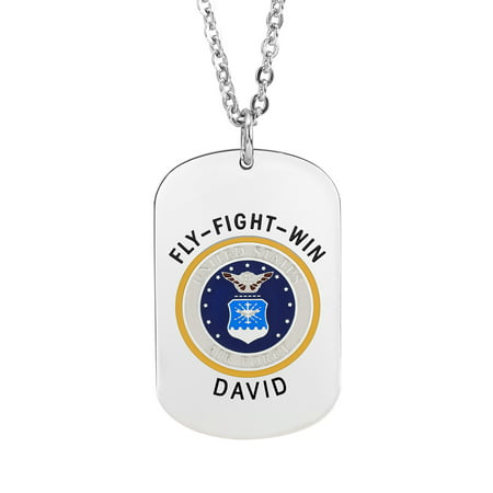 Necklace Design For Girls (Military Air Force Insignia Dog)