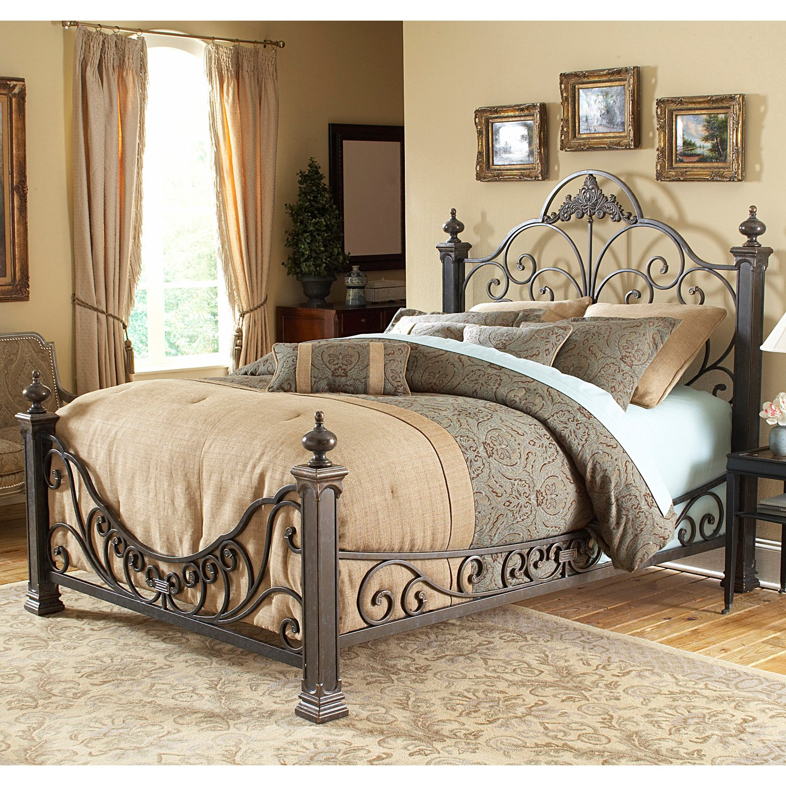 Fashion Bed Group Baroque Metal Poster Bed by Fashion Bed
