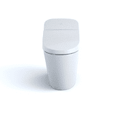 TOTO® Washlet® G400 Bidet Seat with Integrated Dual Flush 1 28 or 0 9 GPF  Toilet with Premist™, Cotton White - MS920CEMFG#01
