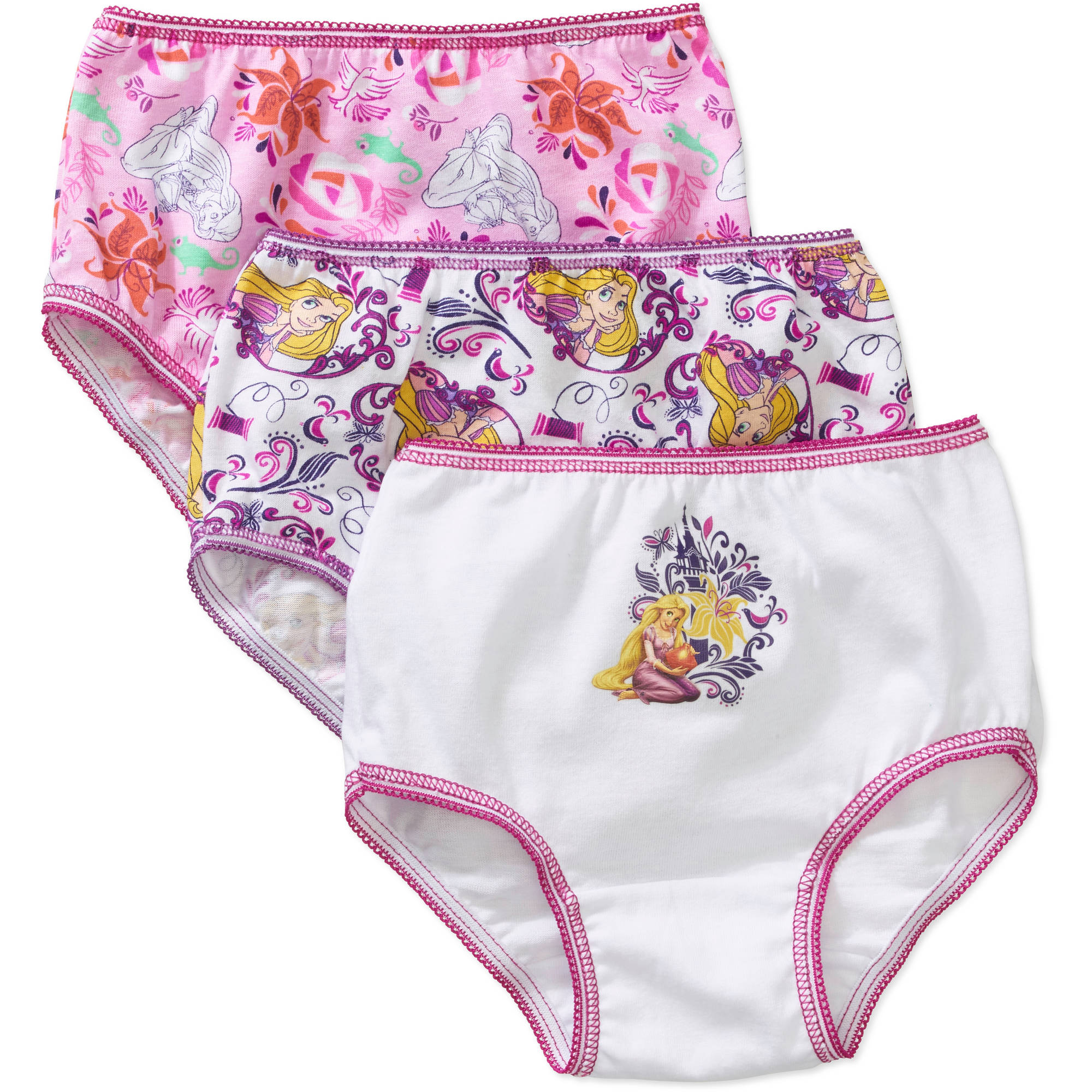 Disney Tangled Toddler Girls Underwear, 3 Pack