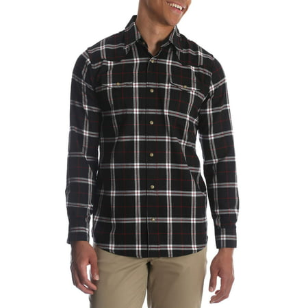 Wrangler Men's and big & tall long sleeve snap flannel shirt, up to size (Best Mens Flannel Shirts 2019)