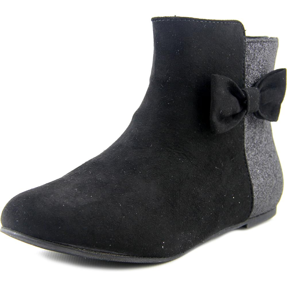 Arizona Jean Company Lucy Youth  Round Toe Canvas Black Ankle Boot