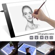 Ultra Thin 3MM LED Artist Drawing Board USB Power Dimmable Tracing Light Box Copy Pad Table Stencil Tattoo Display Light Box Sketching Animation Copy Table PadA5(8.26*6.06 inch)