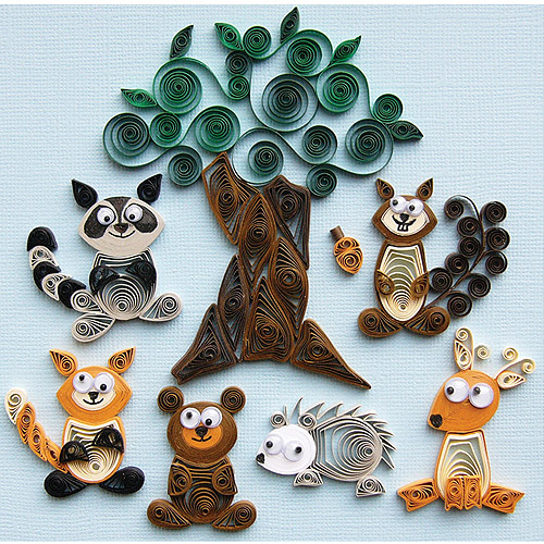 Quilled Creations Quilling Kit, Forest Buddies