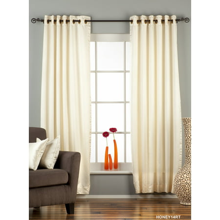 Cream Ring / Grommet Top 90% Blackout Curtain / Drape / Panel - Piece Ring Top Panel