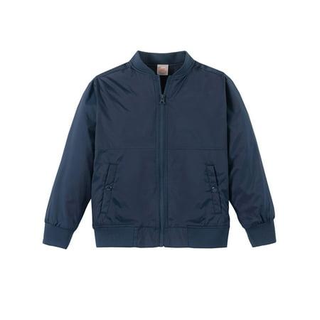 Wonder Nation School Uniform Fleece Lined Bomber Jacket (Little Boys & Big Boys) (Lightweight Lined Uniform)