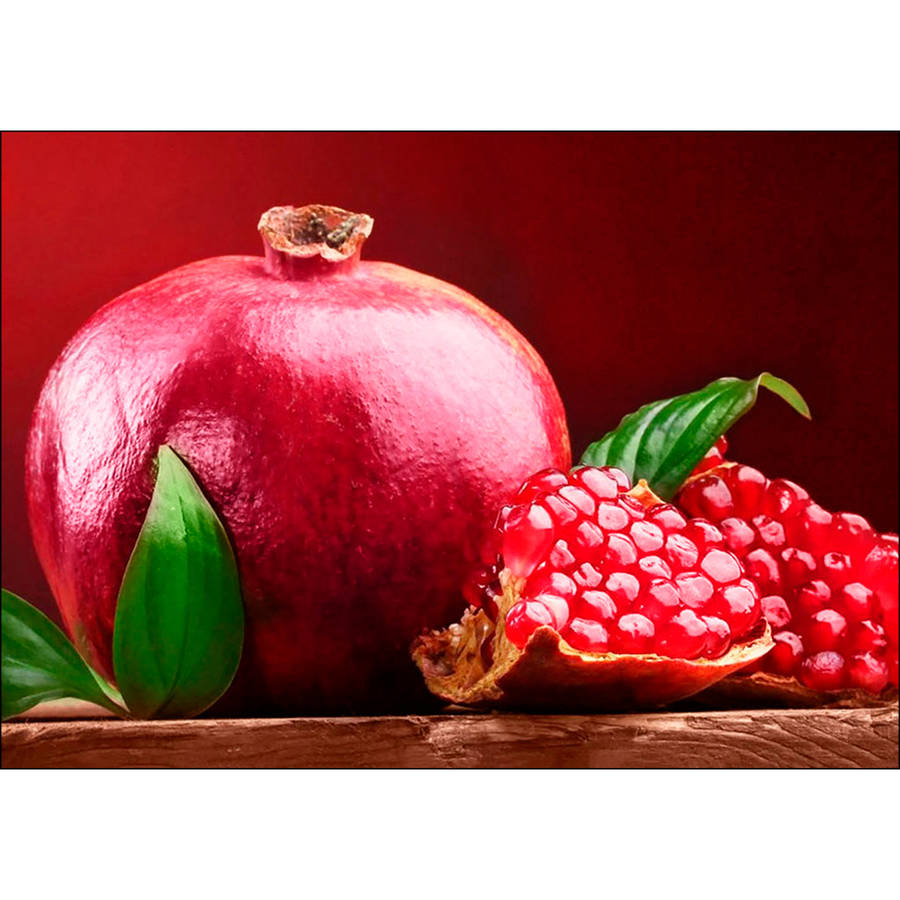 Collection D'Art Diamond Embroidery/Printed/Gem Kit, 27cm x 38cm, Pomegranate