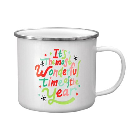 Holiday Enamel - Molly & Rex Holiday Enamel Mug Wonderful Time Year
