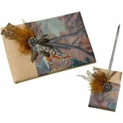 Lillian Rose Camouflage Guest Book and Pen Set