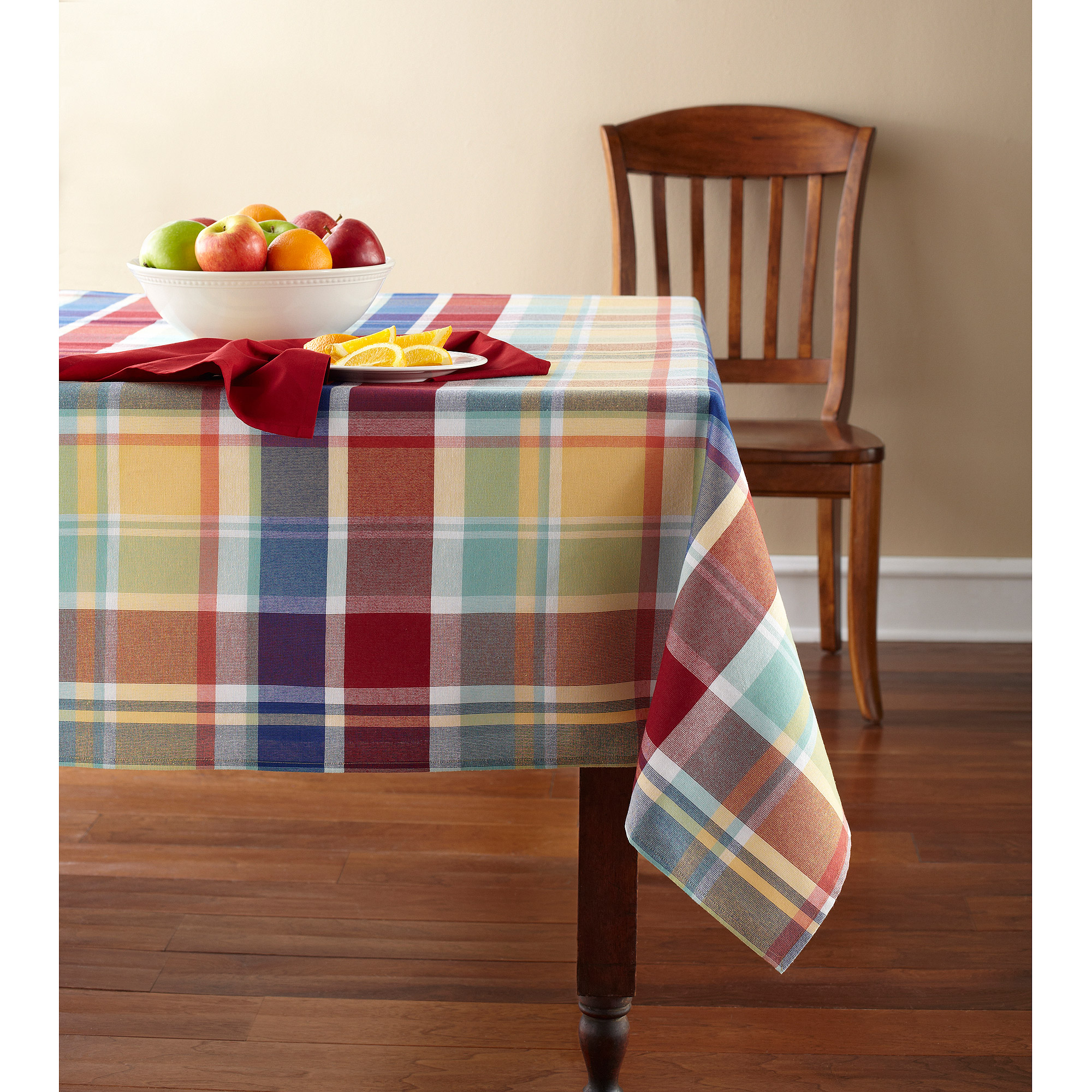 Mainstays Rave Plaid Woven Tablecloth, ...