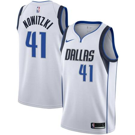Dirk Nowitzki Dallas Mavericks Nike Replica Swingman Jersey - Association Edition - White 10 Nike Replica Home Jersey