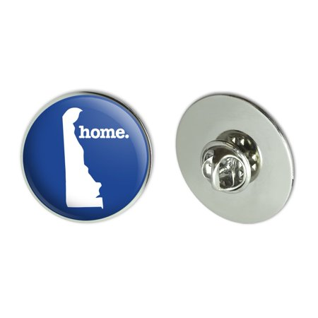 "Delaware DE Home State Solid Navy Blue Officially Licensed Metal 1.1"" Tie Tack Hat Lapel Pin Pinback"