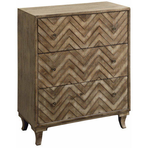 Crestview Galloway 4 Door Rustic Wood and Mirror Sideboard CVFZR1236 by Crestview Collection