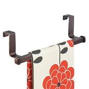 interdesign marcel over-the-cabinet kitchen dish towel bar holder - bronze