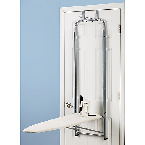 Household Essentials Silver Over the Door Ironing Board, Natural Cover