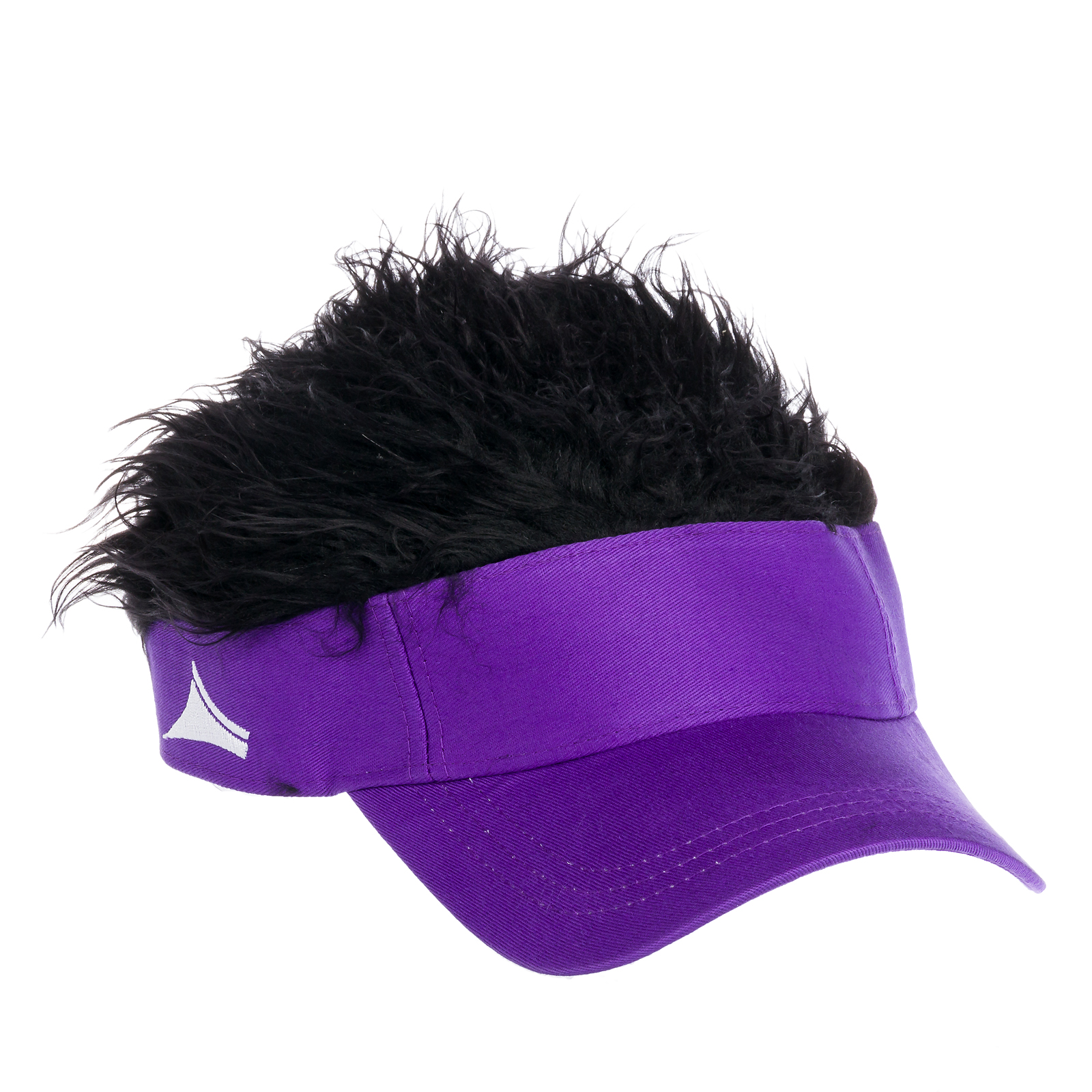 Flair Hair Black Hair Adjustable Visor Hat (Purple) - Walmart.com 5537c375827