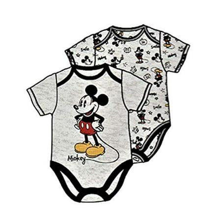 Mickey Mouse Disney Themed Infant Bodysuit 2-Pack Black (6-9 m) (Infant Theme Ideas)