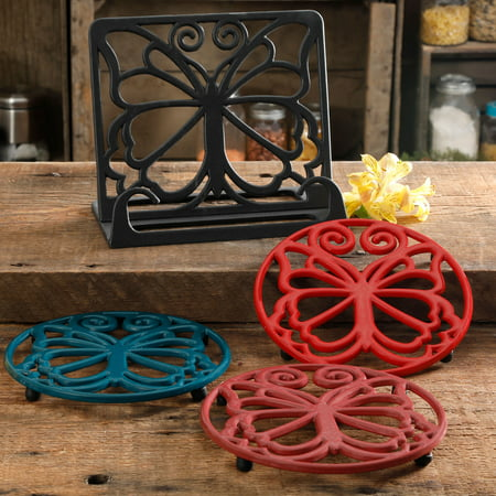 Sonoma Trivet - The Pioneer Woman Timeless Beauty 4-Piece Cast Iron Cookbook Holder and Trivet Set