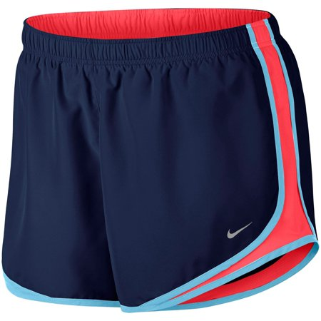 - Nike Women's 3'' Plus Size Dry Tempo Running Shorts - Binary Blue/Racer Pink - Size 1X