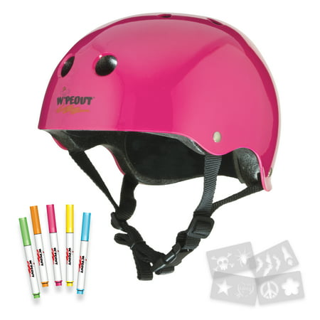 Wipeout Bike Helmet Neon Pink 5+ Pink Riding Helmet