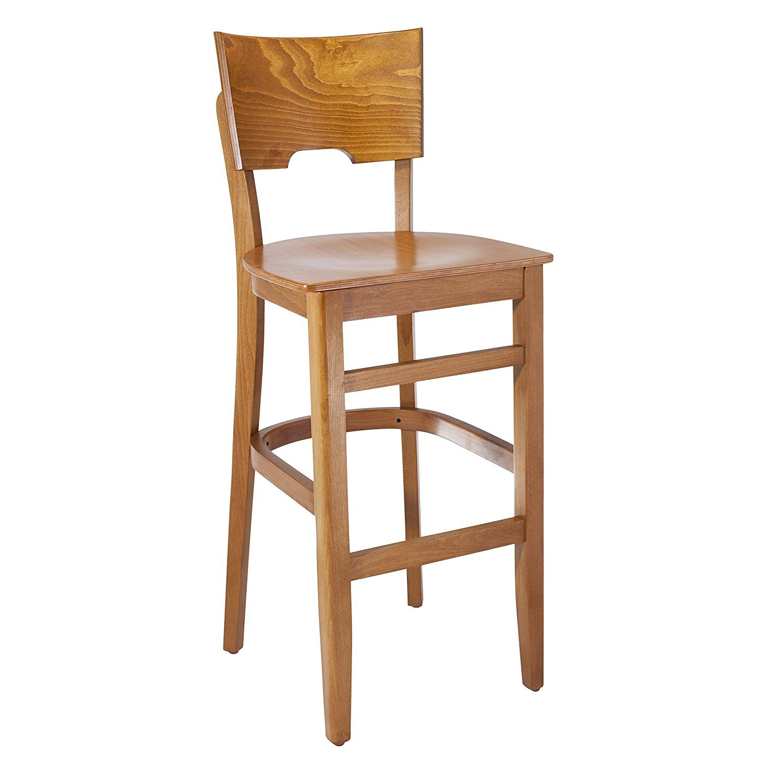 Beechwood Mountain BSD-11BW-C Solid Beech Wood bar Stool in Cherry with Wood Seat for Kitchen & Dining, NA by Beechwood Mountain