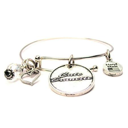Cute Brunette Bangle Bracelet, Fits 7.5