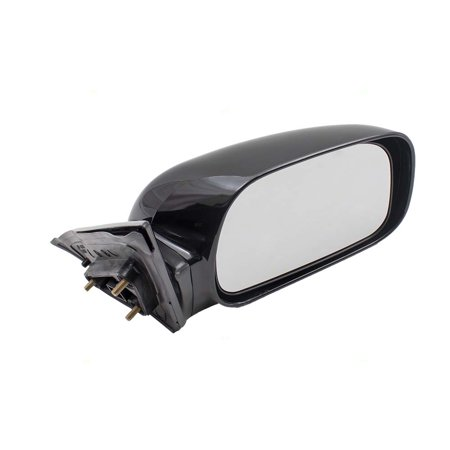BROCK Power Side View Mirror with Adapter Passenger Replacement for 02-06 Toyota Camry USA Japan (Toyota Camry Replacement Mirror)