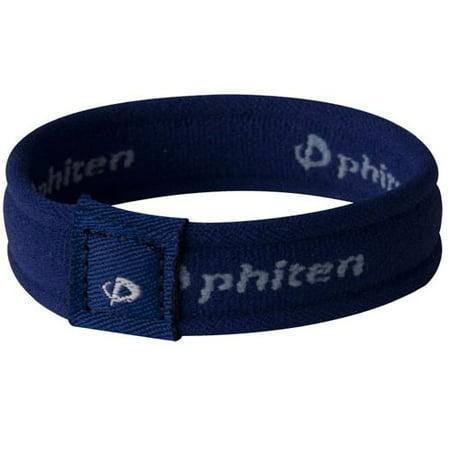 Phiten 2nd Gen Titanium Bracelet, Navy, -