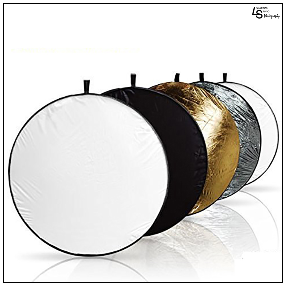"Loadstone Studio 43"" Photography Photo Video Studio Lighting Disc Reflector, 5-in-1, 5 Colors, Black, White, Gold, Silver, Translucent, WMLS2061"