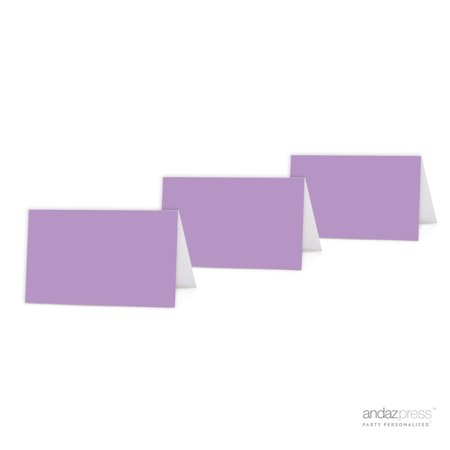 Lavender Color Blank Table Tent Printable Place Cards, 20-Pack